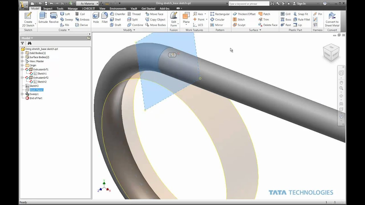 Stretchy Parts in Autodesk Inventor - YouTube