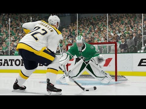 NHL 19 Gameplay Nashville Predators vs Dallas Stars | PS4 Pro NHL 19 CPU vs CPU Gameplay