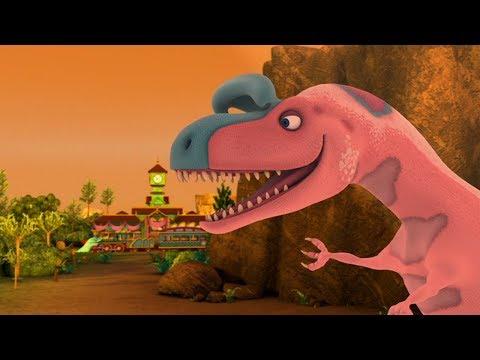Поезд динозавров Концерт в городе троодонов Мультфильм для детей про динозавров