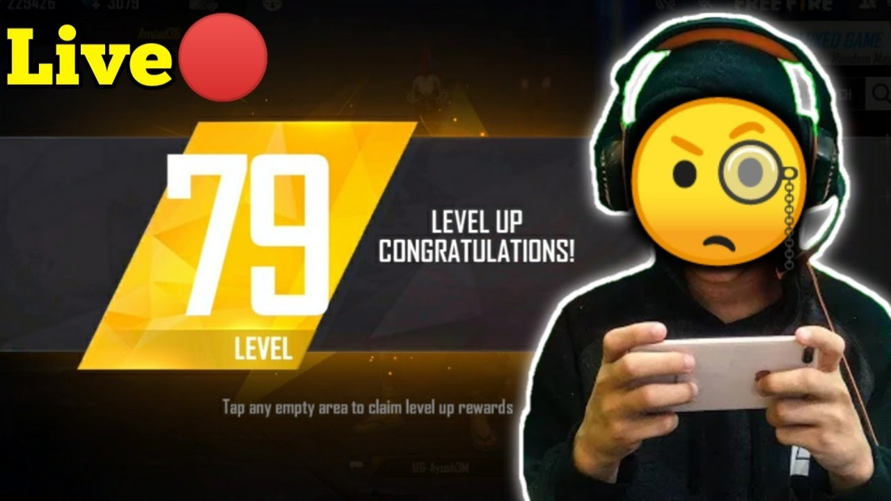 FACECAM LIVE 🔴- Level 79 Up Ranked Gameplay - GARENA FREE FIRE 🔥