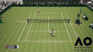 Taylor Townsend vs Aliaksandra Sasnovich - AO International Tennis - PS4 Gameplay
