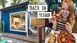 Backyard Tiny House Tour! + Viet-cajun Crawfish 👌 & Visiting A Texas Icehouse  Houston, Tx
