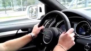 Тест - драйв Audi Q7 (Ауди Q7) vs новый Porshe Cayenne Turbo (Порше Каен Турбо)