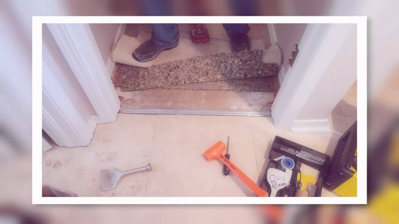 How to repair a carpet to tile transition youtube dailygadgetfo Gallery
