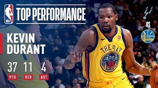 KD Sizzles And Scores 14 Consecutive Points Late In The 4th Quarter vs Spurs! thumbnail