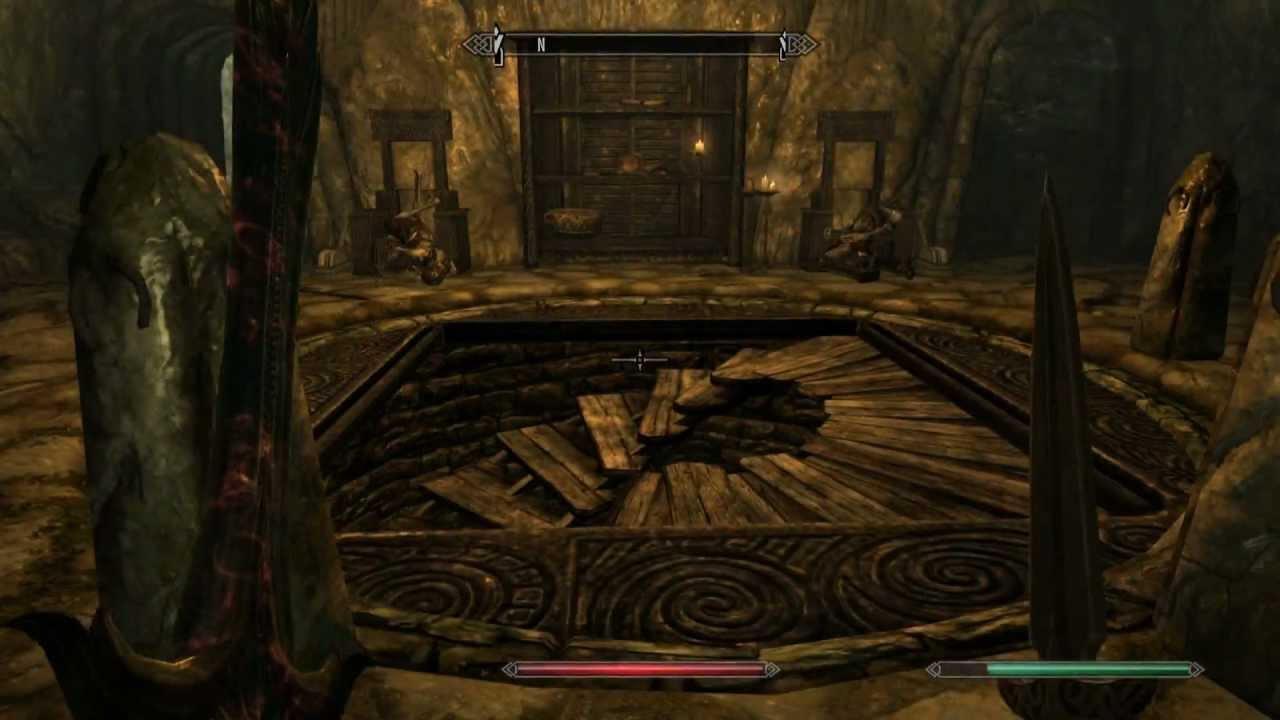 Skyrim - Folgunthur: closed stairway - YouTube