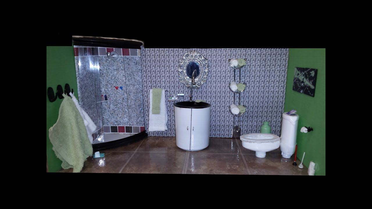 Right Hand Shower Bath How To Make A Barbie Bathroom Youtube