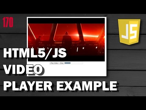 HTML5/JAVASCRIPT How to play video file - Simple video player example