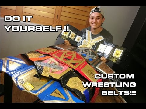MAKE YOUR OWN DIY CHAMPIONSHIP WRESTLING TITLE BELTS!!