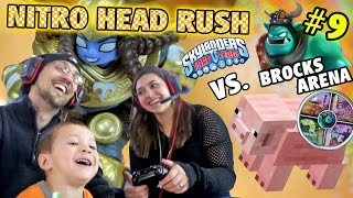 Mom Oinks & Chase Spills: Us vs. Brock Part 9! Nitro Head Rush Gameplay (Skylanders Trap Team Arena)