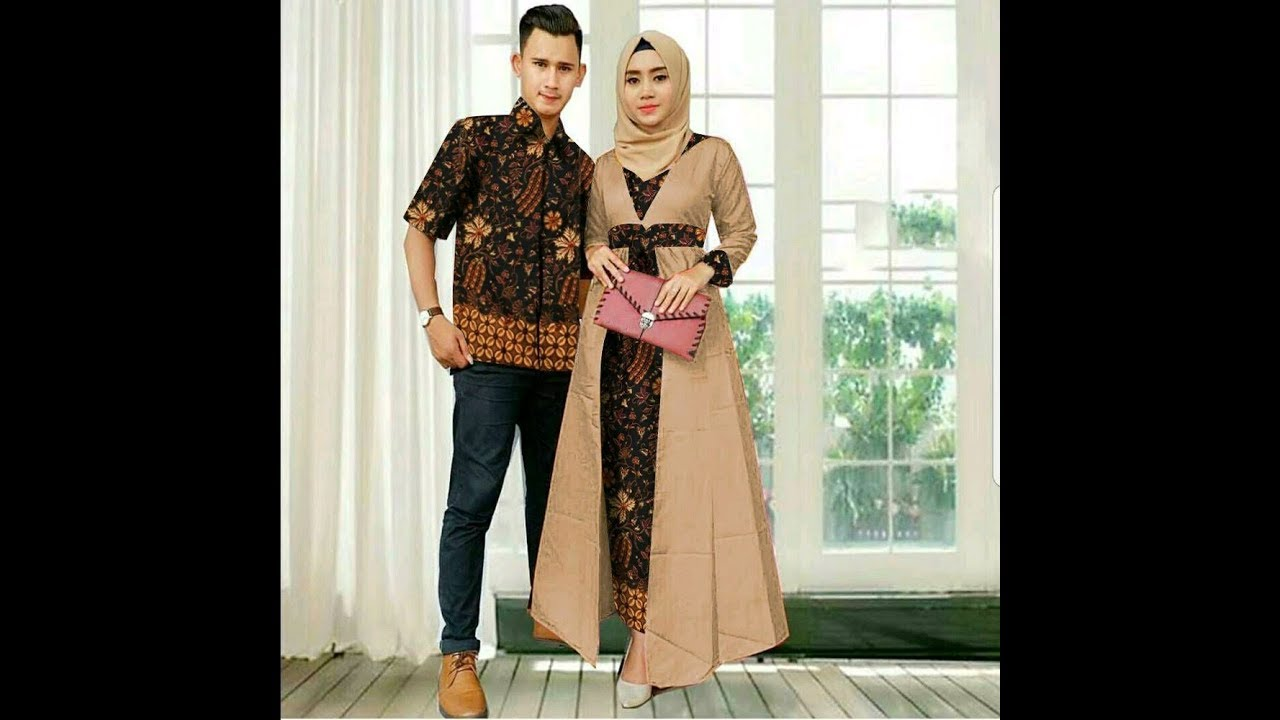 Model Gamis Batik Modern Desain Terbaru 9 - YouTube