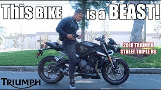BEST SOUNDING BIKE EVER!| 2018 TRIUMPH Street Triple RS