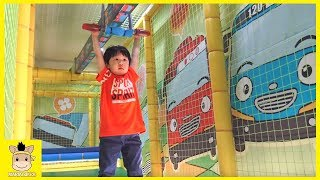 Indoor Playground Tayo Bus Car Kids Cafe Toys Family Fun Play Area | MariAndKids Toys