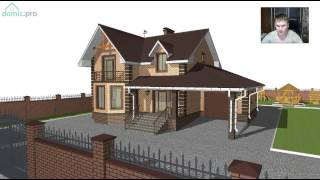 Проект мансардного дома на 3 спальни с гаражом  C-229-ТП