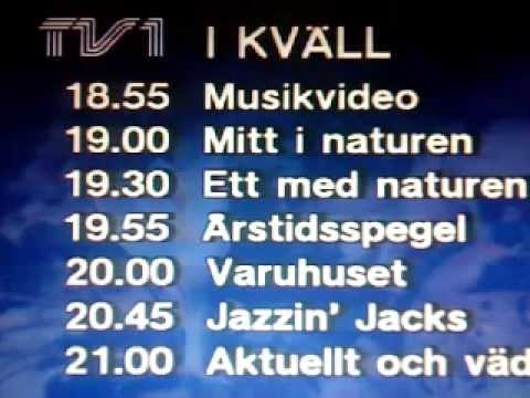 TV 1 Tablå+Hallåa(1987)Tom Lööf