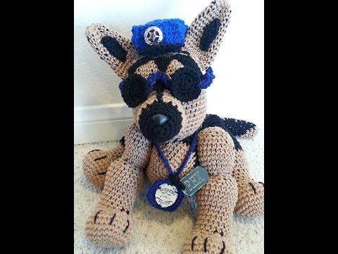 Crochet German Shepherd Dog DIY tutorial Part 1 of 2