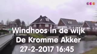 Windhoos in Voorthuizen, beelden vanuit de wijk De Kromme Akker