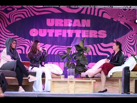 Lauren Jauregui and Amani Al-Khatahtbeh at the Urban Outfitters + TeenVogue In Conversation Panel