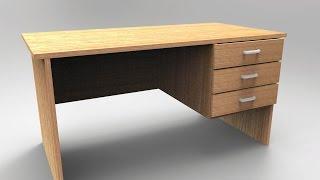 Maya 2016 tutorial : How to model a desk ( Full tutorial )