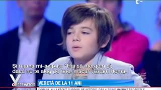 Copil român, vedetă în Italia