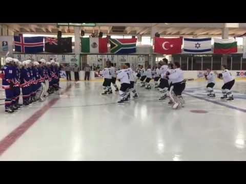 Ice Hockey Haka-Maori Dance (New Zeland Vs Iceland) IIHF