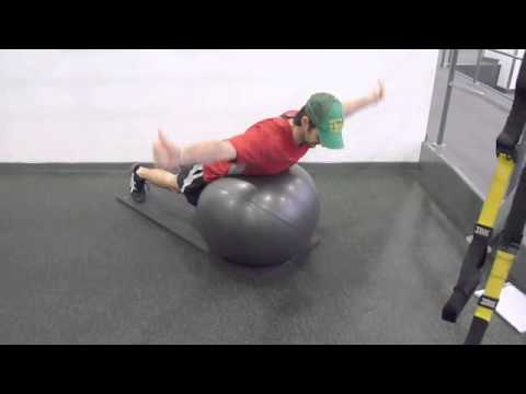 Exercise For Golf Strength And Posture – T Raises off Stability Ball