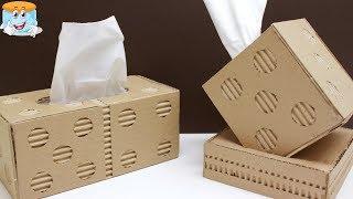 как сделать салфетницу из картона