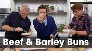 Jamie Oliver's Beef & Barley Buns: Steven & Chris