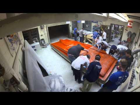 University of Kentucky Solar Car 2014 Bottom Shell Fiberglass Mold Construction