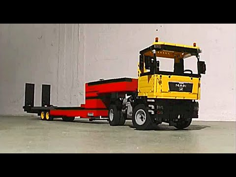 lego technic man with flatbed trailer youtube. Black Bedroom Furniture Sets. Home Design Ideas
