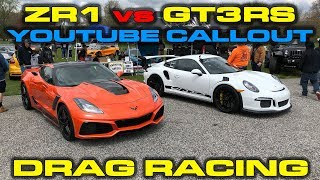 Youtube Callout 2018 Drag Racing - 2018 Corvette Zr1 Vs Porsche 911 Gt3rs And More