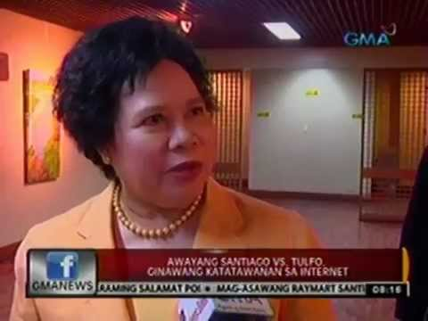 Sen. Miriam Santiago's reaction on Tulfo-Santiago brawl; Netizens spoof of their own