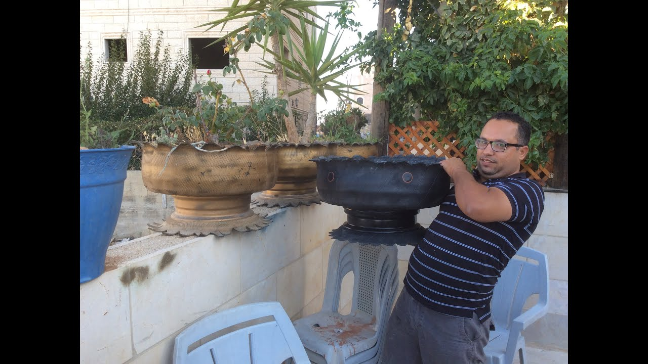 how to recycle or reuse old damged car tires to become flower pots