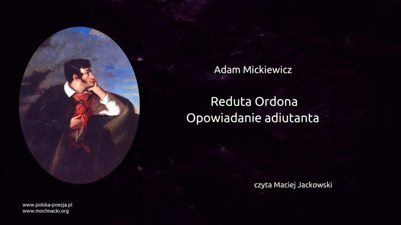 Adam Mickiewicz Reduta Ordona Opowiadanie Adiutanta