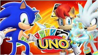 SONIC AND SILVER AND SALLY PLAY UNO