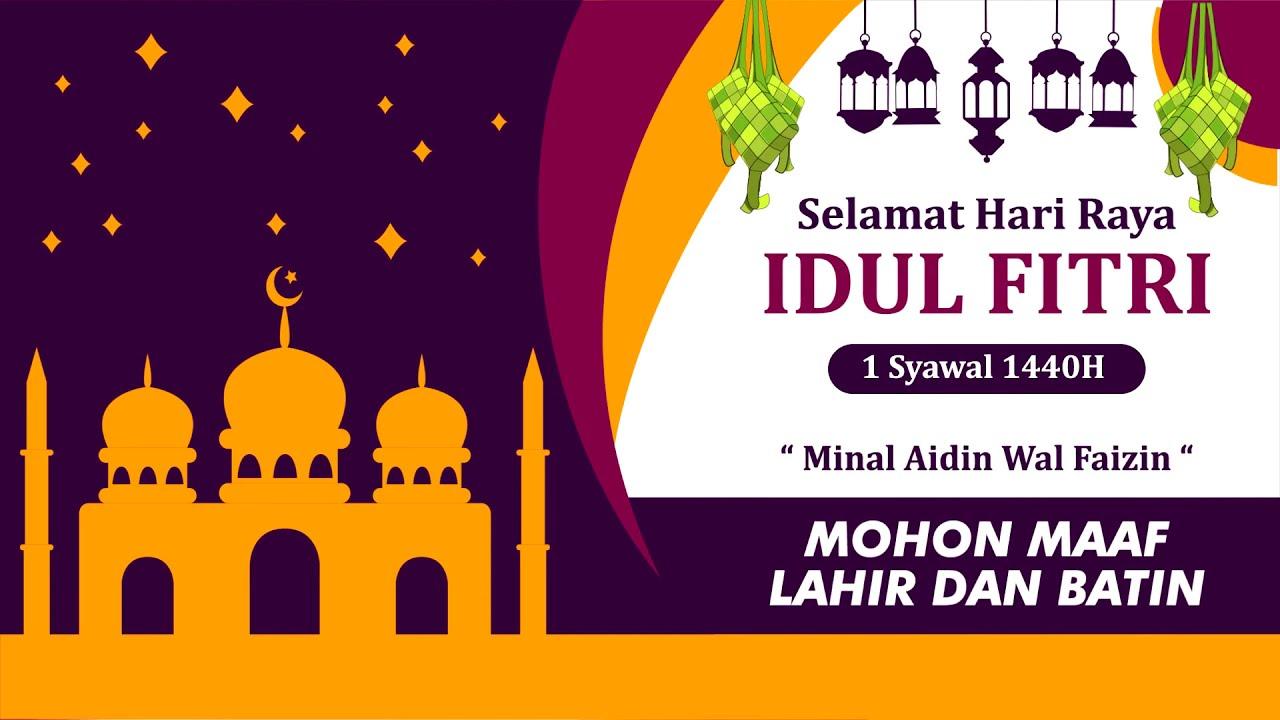 40+ Trend Terbaru Desain Pamflet Ucapan Selamat Idul Fitri ...