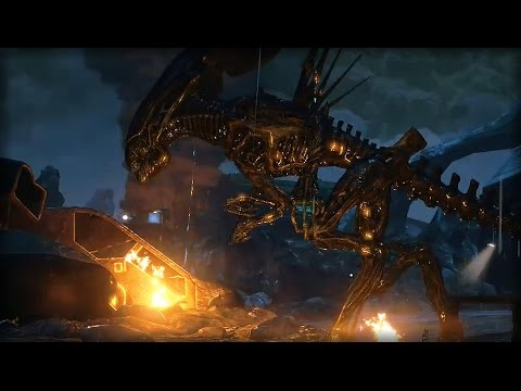 FIREFIGHT WITH THE QUEEN | Aliens: Colonial Marines (Campaig