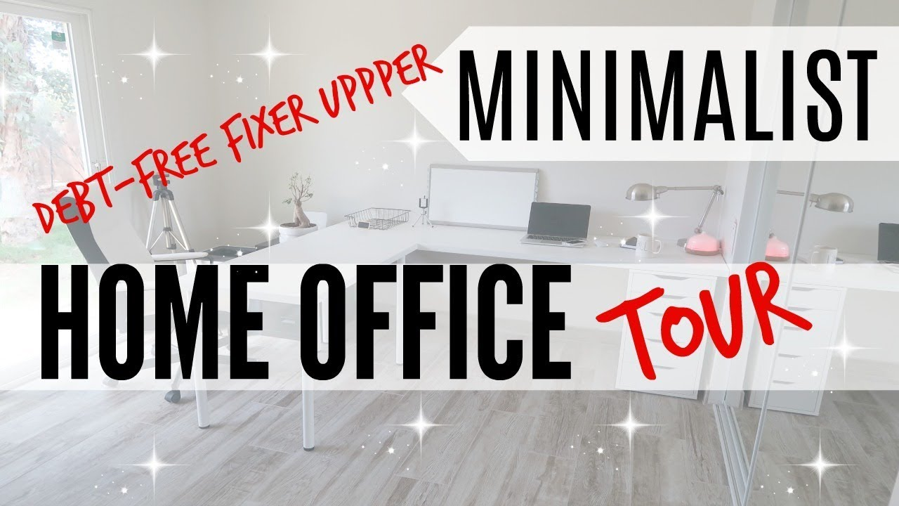 home office renovation. MINIMALIST HOME OFFICE TOUR ○ DEBT FREE FIXER UPPER BEFORE/AFTER RENOVATION SIMPLE LIVING Home Office Renovation R