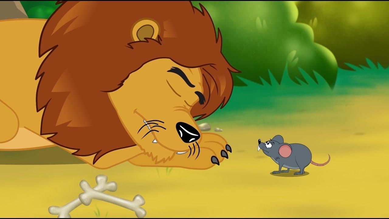 Le lion et le rat 1 conte 4 comptines et chansons - Image le lion et le rat ...