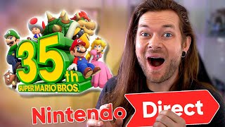 I Can't BELIEVE That Super Mario Nintendo Direct!