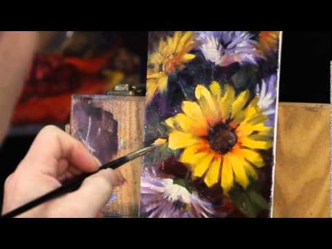 """""""Floral Fireworks"""" oil painting by Andy Dolphin – Part 3"""