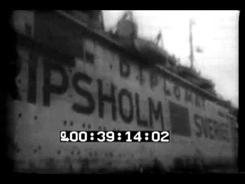 EXCHANGE SHIP GRIPSHOLM ENTERS HARBOR, NEW YORK