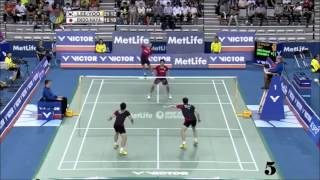 Top 15 doubles badminton rallies 2015