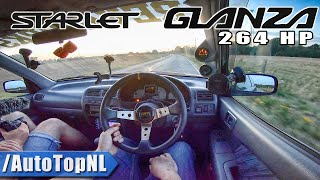 1997 Toyota Starlet Glanza 1.3 HUGE Turbo 264hp Test Drive by AutoTopNL