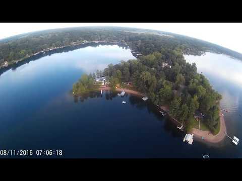 3 mile mission over large lake UAS long distance quadcopter flight drone