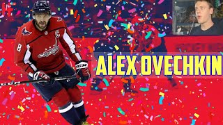 New NHL Fan Reacts to ALEX OVECHKIN Highlights!
