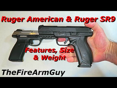 Ruger American & Ruger SR9 - Are They Different? TheFireArmGuy