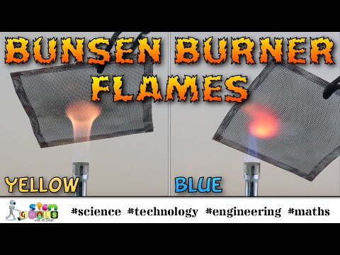 Comparing Bunsen Burner Flames [Science Skills Series]