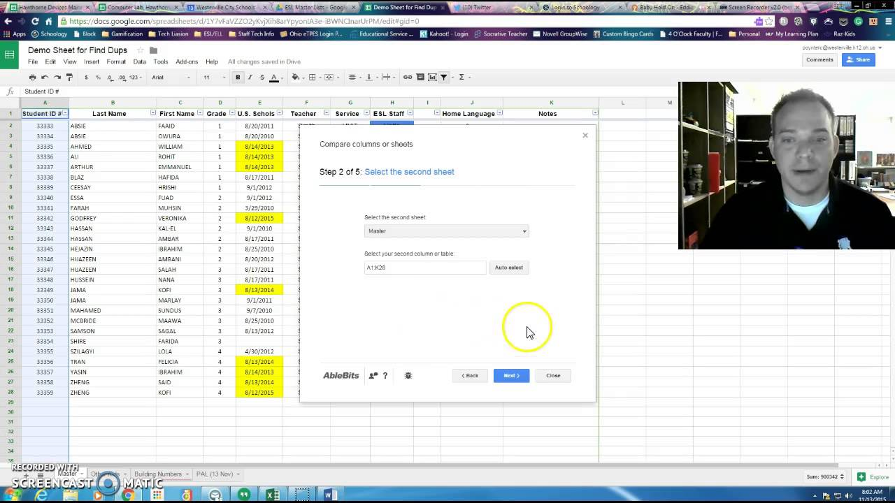 how to use find duplicates for google sheets youtube