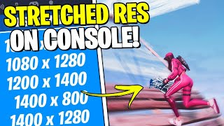 How To Get Sтretched Resolution On CONSOLE FORTNITE   PS4 + XBOX (Fortnite)